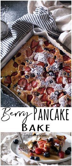 Berry Pancake Bake - Fresh Hunger | create a little cookery magic