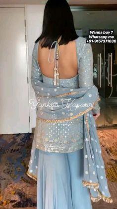 Fancy Dress Design, Stylish Dress Designs, Stylish Dresses, Nice Dresses, Prom Dresses, Casual Indian Fashion, Indian Fashion Dresses, Indian Designer Outfits, Trendy Fashion