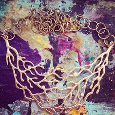 Gold Coral Necklace! Shop at etsy.com/shop/addiewuensch