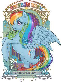 """My Little Pony - Friendship is Magic """"Art Nouveau"""" Rainbow Dash!"""