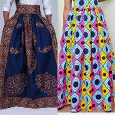 Ankara maxi skirt African print maxi skirt Maxi by MaDeInAfrikaGh