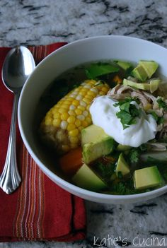 Chicken and Corn Soup - Katie's Cucina