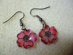How to make this Shrink Plastic Earring and Necklace set from stamped image (might want to glaze as well)  ********************************************   Addicted2Craft by Jane Gregory - #shrink #plastic #jewelry