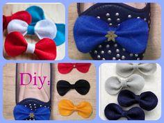 Diy: Aprenda como fazer laços de feltro - Para acessórios, bolsas & sapatos. http://youtu.be/Id3CQPt9VjQ