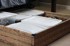 under the bed storage basket