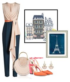 """""""Untitled #285"""" by sahrish-hossain ❤ liked on Polyvore featuring Roksanda, Chloé, Jimmy Choo, Vintage Print Gallery and jumpsuits"""