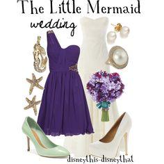 Disney The Little Mermaid wedding. My dream wedding! Disney Inspired Wedding, Disney Inspired Fashion, Wedding Disney, Disney Weddings, Disney Fashion, Little Mermaid Wedding, The Little Mermaid, Disney Dresses, Disney Outfits