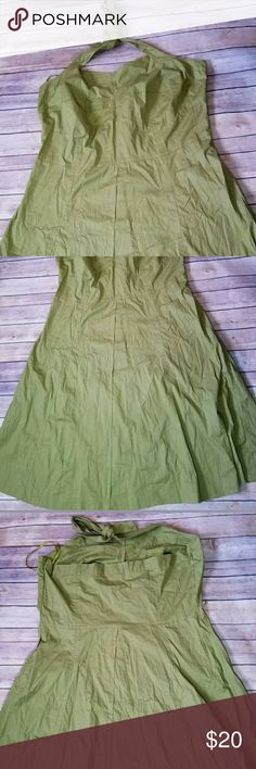 """Ashley Stewart Green Retro plus size dress Brand new with tags Material 97% cotton 3% spandex Length 44"""" Waist 45"""" Chest 55"""" Ashley Stewart Dresses Backless"""