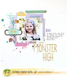 Christin aka Umenorskan scrapper: Citrus Twist Kits October kits