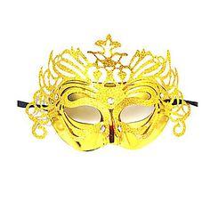 Máscara do carnaval do partido do disfarce de Veneza Rainha Glitter Mulheres de Ouro – BRL R$ 3,31