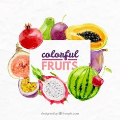 Made with natural ingredients Keto Diet helps promote ketosis to support healthy weight loss. Kick start with weight loss journey with Keto Diet. Colorful Fruit, Exotic Fruit, Fresh Fruit, Watercolor Fruit, Watercolor Effects, Keto On A Budget, Fruit Vector, Keto For Beginners, Fruit Art