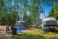 RV camping, Quebec. Véhicules récréatifs - Hébergement - Sépaq