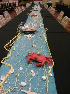 Ocean theme party - crabs, shells, netting!