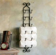 Magazine Rack or Wine Rack with our Towels and other 4 great ideas for home.