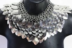 Scale Mail Gorget Choker Stainless Steel by worldinchainsmaille, $75.00