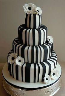 MuyAmeno.com: Tortas de Boda en Blanco y Negro, Parte 3