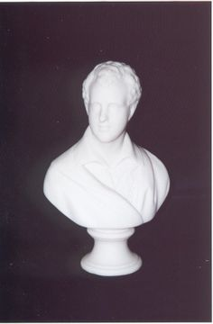 """Parian Ware: Bust of Lord Byron, Circa 1890. See Book  """"The Parian Phenomenon"""", Figure 757, Page 231. Chatham Historical Society, Atwood House Museum, Chatham, MA. #chatham, #atwoodhouse, #capecod, #lordbyron, #bust, #statue, #parianware, #chathamhistoricalsociety"""