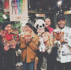 Legit we know them TO WELL avi with a dragon, (cant tell what mitch has) Kirstie's olaf, Kevin's monkey and Scott's snuggles