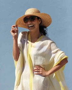 Have you noticed how hard it is to find a great beach cover-up, one that's not fussy or frilly? We sure have. That's why we came up with our own. Breezy, and a tad bohemian, it's as easy to make from two cotton scarves as it is to throw on before you head to the beach.