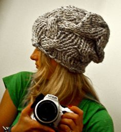 HAND-KNIT PATTERN - In The Woods Chunky / Slouch Hat, Handmade in Sweden. $4.00, via Etsy.