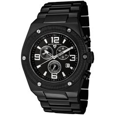 Swiss Legend Men's Quartz Watch with Black Dial Chronograph Display and Silver Stainless Steel Bracelet SL-40025P-BB-11SA -- Check out the watch by visiting the link.