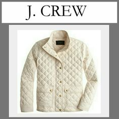 NWT J. CREW Quilted Jacket This Jacket is so popular it's a SOLD OUT item. LOOK IT UP:)  Brand new lightly quilted puffer style jacket. Great for layering. Throw over a cute flannel or even a sweater. This style is hot this season. Make it Yours for less than half the retail price. J. Crew Jackets & Coats Puffers