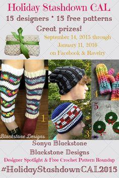 Designer spotlight on Sonya Blackstone/Blackstone Designs with free #crochet pattern #roundup on Underground Crafter #HolidayStashdownCAL2015