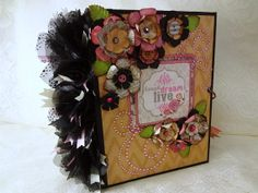 LAUGH DREAM LIVE premade mini scrapbook by CollectionOfMoments, $55.00
