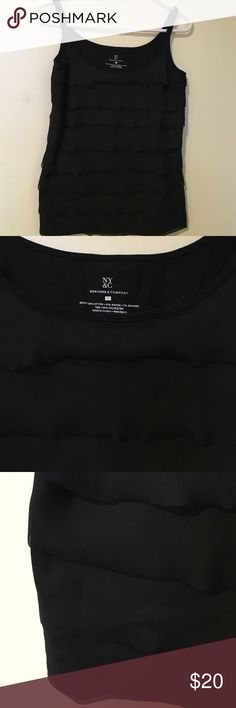 NY&C tees shirt This beautiful tees have sheer material over the tee shirt very nice to dress up your jeans outfits or wear to work, very beautiful New York & Company Tops Tunics
