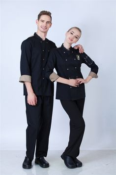 Hot Unisex long sleeve cook suit restaurant cook work wear hotel chef uniforms double-breasted kitchen chef top clothes YYX 64