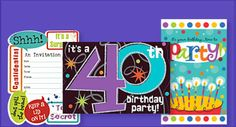 Party City Birthday Invitations