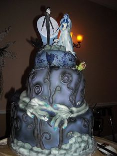 Corpse Bride Cake.  In actuality, this could go under many of my boards.