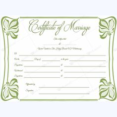Marriage Certificate 05 - Word Layouts Wedding Certificate, Marriage Certificate, Certificate Templates, Layouts, Words, Crafts, Marriage License, Manualidades, Handmade Crafts