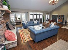 Visit www.walnutcreeksc.com to find out why Walnut Creek was listed as the third best-selling community in all of #Charlotte (source: Metro Study)!  Building your #DreamHome is now within your reach! #Lancaster County #SC. #livingroom #hardwood #stone #fireplace