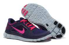 Nike Free 5.0 V3 Womens Running Shoes Purple Pink  - Freen Run