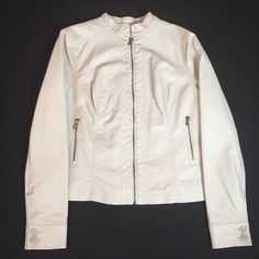 Gorgeous Cream Jacket  Lightly worn, in very good condition like NEW Shell face: 100% polyurethane • Shell back : 100% viscose • Lining: 100% polyester  True to size Comes from smoke & pet free home  FAST shipper ⚡️same day or next day  NO Trading, NO Holds  Bundling Available Black rivet Jackets & Coats