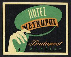 Luggage Label Hotel Metropol Budapest HUNGARY