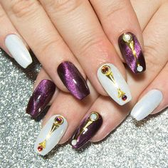 Purple Nails  Press On Nails Coffin  False Nails with
