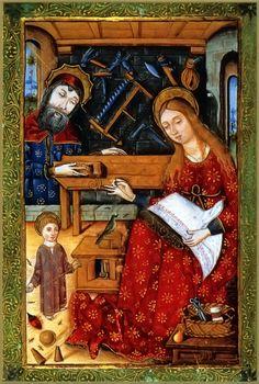 Sagrada Familia en el Libro de las Horas del SXV