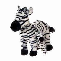 "Zebra With Baby Plush Stuffed Animal 12"" $18.95"