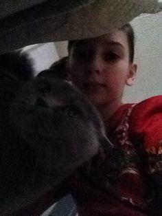 Селфи с кошкой