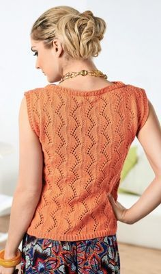 Ivy top - free knitting pattern download over the LK blog!