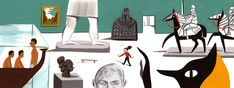 For the Sunday Times 'My Dream Sunday' column, illustrating getting lost in a museum and all its wonders
