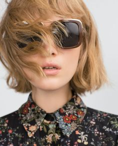 Zara square sunglasses New with tag and case. Messy Hairstyles, Pretty Hairstyles, Hair Dos, My Hair, Zara, Pelo Bob, Good Hair Day, Looks Style, Hair Inspiration