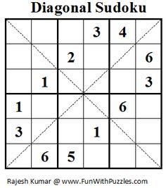 Diagonal Sudoku (Mini Sudoku Series #17)