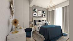 Bedroom design by Mialmi Design Bedroom, Bedroom Inspo, Bedroom Decor, Single Bedroom, Modern Contemporary, Bedrooms, Interior Design, Grey, House