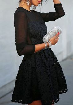 Illusion Neckline Lace Dress