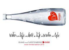 If It's Hip, It's Here: DVF X evian. Diane Von Furstenberg's New Limited Edition Bottle Design For Evian.