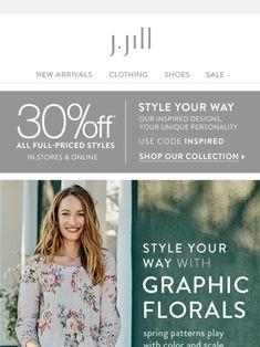 Fresh styles, spring patterns. Plus, take 30% off. - J.Jill