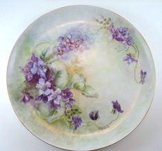 Hand Painted Porcelain Plate from Germany by MemoriesofYesterday